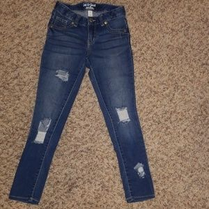 Cat and Jack girls super skinny jeans size 7